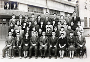 elementary school children teachers group photo 1959 Japan