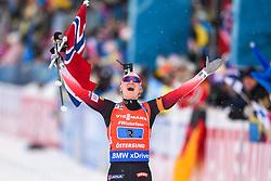 March 16, 2019 - –Stersund, Sweden - 190316 Marte Olsbu Røiseland of Norway  celebrates after the Women's 4x6 km Relay during the IBU World Championships Biathlon on March 16, 2019 in Östersund..Photo: Petter Arvidson / BILDBYRÃ…N / kod PA / 92268 (Credit Image: © Petter Arvidson/Bildbyran via ZUMA Press)