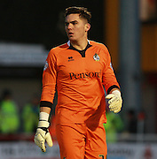 Bristol Rovers goalkeeper Lee Nicholls during the Sky Bet League 2 match between Crawley Town and Bristol Rovers at the Checkatrade.com Stadium, Crawley, England on 21 November 2015. Photo by Bennett Dean.
