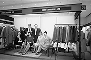 24/04/1964<br /> 04/24/1964<br /> 24 April 1964 <br /> Stands at the Irish Export Fashion Fair at the Intercontinental Hotel, Dublin. Jimmy Hourihan and Co. Ltd. (2/3 Fade Street, Dublin) specialists in coats and outerwear. Miss Billy Taylor on right.