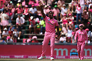 Lungi Ngidi claims a wicket  during the One Day International match between South Africa and England at Bidvest Wanderers Stadium, Johannesburg, South Africa on 9 February 2020.