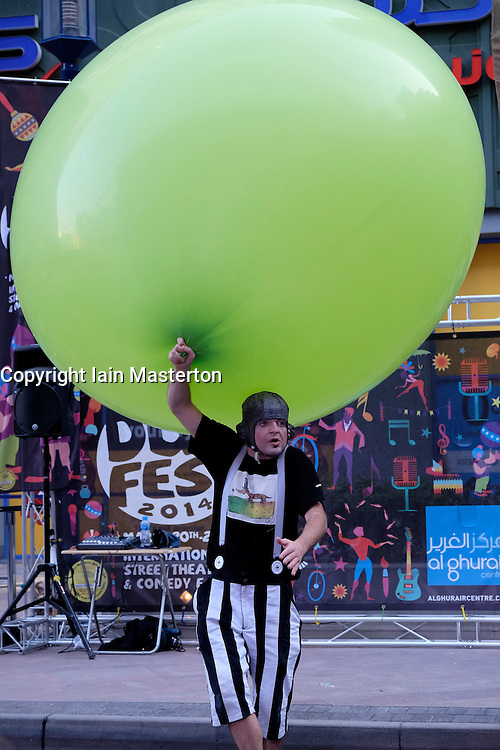 Dub Fest 2014 international street and comedy festival at Al Ghurair in Dubai United Arab Emirates