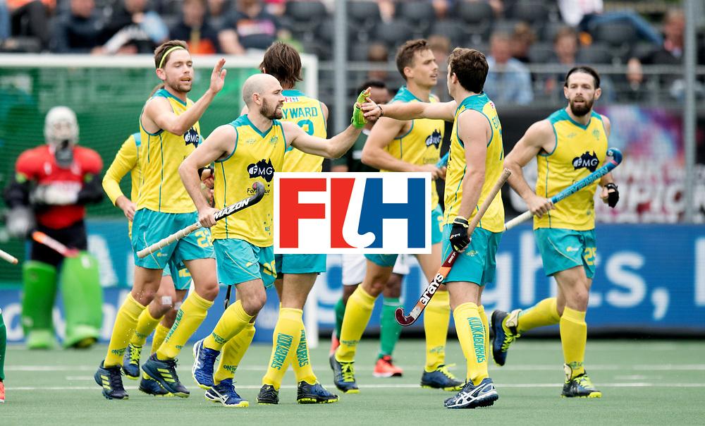 BREDA - Rabobank Hockey Champions Trophy<br /> Australia - Pakistan<br /> Photo: Australia celebrate the equaliser.<br /> COPYRIGHT WORLDSPORTPICS FRANK UIJLENBROEK