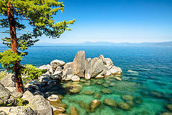 """Boulders at Lake Tahoe 55"" - Photograph of boulders just north of Secret Cove, Lake Tahoe."