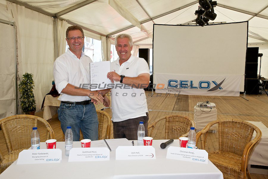 GLOBAL OCEAN RACE 2011-2012.Celox sailing team presents its sponsorship deal with the GOR and their entry for the next edition.