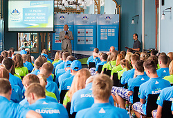 Janez Kocijancic at presentation of Team Slovenia for 12th European Youth Olympic Summer Festival in Utrecht, Netherlands  on July 9, 2013 in Hotel Union, Ljubljana, Slovenia. (Photo by Vid Ponikvar / Sportida.com)