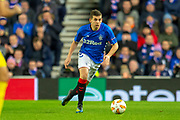 Jonathon Flanagan (#15) of Rangers FC during the Europa League group stage match between Rangers FC and Villareal CF at Ibrox, Glasgow, Scotland on 29 November 2018.