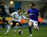 Photo: Tom Dulat/Sportsbeat Images.<br /> <br /> Millwall v Swansea City. Coca Cola League 1. 06/11/2007.<br /> <br /> Bryan Hodge of Millwall and Leon Britton of Swansea City with the ball.