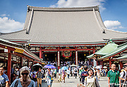 Main Building at Senso-ji Shrine<br /> Asakusa, Toyko, Japan<br /> May 2015