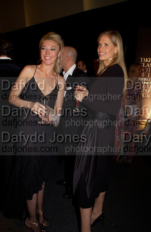 Tamara Beckwith and Catherine Vialli, Dolce Vita party, Hon Artillery company,  London. 11 December 2003.  © Copyright Photograph by Dafydd Jones 66 Stockwell Park Rd. London SW9 0DA Tel 020 7733 0108 www.dafjones.com