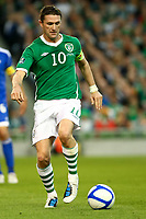 Football - UEFA Championship Qualifier - Republic of Ireland v Andorra<br /> Robbie Keane (Capt.)(Rep of Ireland) in action in the UEFA Championship Group B Qualifier between the Republic of Ireland and Andorra at the Aviva Stadium in Dublin.