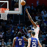 09 December 2017: Washington Wizards center Ian Mahinmi (28) goes for the layup during the LA Clippers 113-112 victory over the Washington Wizards, at the Staples Center, Los Angeles, California, USA.