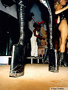 Huge leather platform boots Ibiza 1999