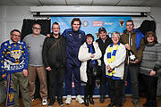 AFC Wimbledon defender Mads Bech Sorensen (26) receiving man of match award during the EFL Sky Bet League 1 match between AFC Wimbledon and Peterborough United at the Cherry Red Records Stadium, Kingston, England on 18 January 2020.
