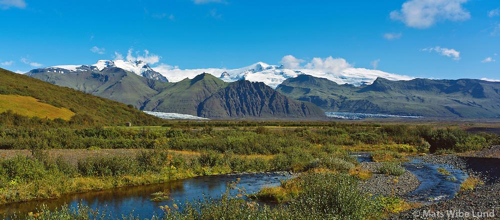 Skaftafell Öræfajökull, Panorama, Hofshreppur / Skaftafell Oraefajokull, Hofshreppur.
