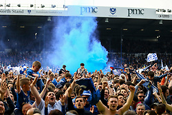 Portsmouth fans celebrate - Mandatory by-line: Jason Brown/JMP - 06/05/2017 - FOOTBALL - Fratton Park - Portsmouth, England - Portsmouth v Cheltenham Town - Sky Bet League Two
