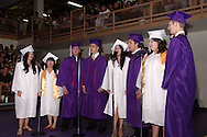 Using an arangement by Butler grad Danny Espy, the ensemble performs during the Vandalia-Butler High School commencement at the BHS Student Activity Center in Vandalia, Friday, June 3, 2011.