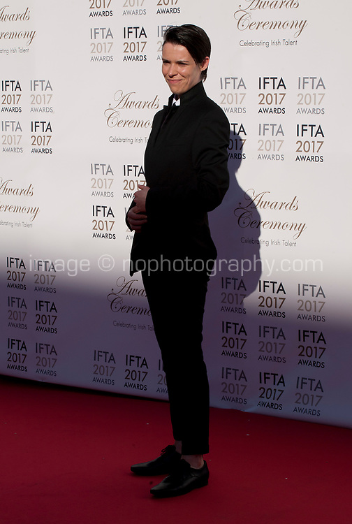 Actress Caoilfhionn Dunne at the 2017 IFTA Film & Drama Awards at the Round Room of the Mansion House, Dublin,  Ireland Saturday 8th April 2017.