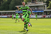 Forest Green Rovers Rhys Murphy (39) celebrates his goal during the Vanarama National League match between Dover Athletic and Forest Green Rovers at Crabble Athletic Ground, Dover, United Kingdom on 10 September 2016. Photo by Shane Healey.