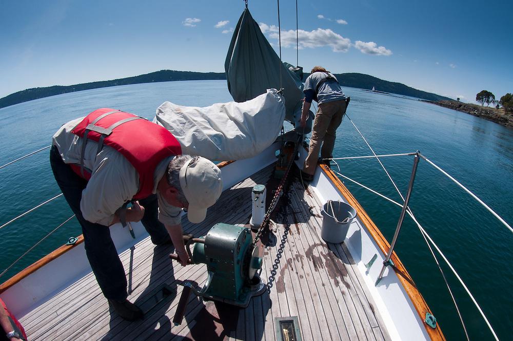 Sailing Into the San Juan Islands on the Orion, Puget Sound, Washington