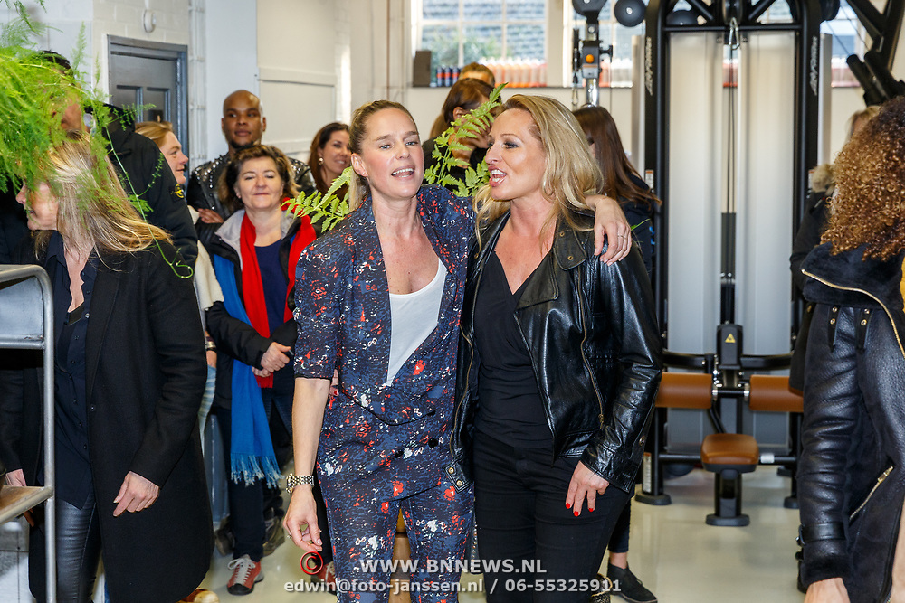 NLD/Hilversum/20180114 - opening Personal Power Gym Hilversum, Saskia, partner van Mark Dakriet en zangeres Desray