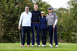Brian Dutton joins Blue Poppy as they take part in the Annual Bristol Rovers Golf Day - Rogan/JMP - 09/10/2017 - GOLF - Farrington Park - Bristol, England - Bristol Rovers Golf Day.
