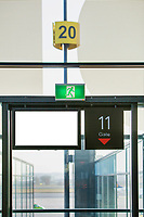 Photo of empty boarding gate 11 in airport