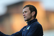 Manager Damien Johnson during the Barclays U21 Premier League match between U21 Brighton and Hove Albion and U21 Blackburn Rovers at the Checkatrade.com Stadium, Crawley, England on 4 April 2016.