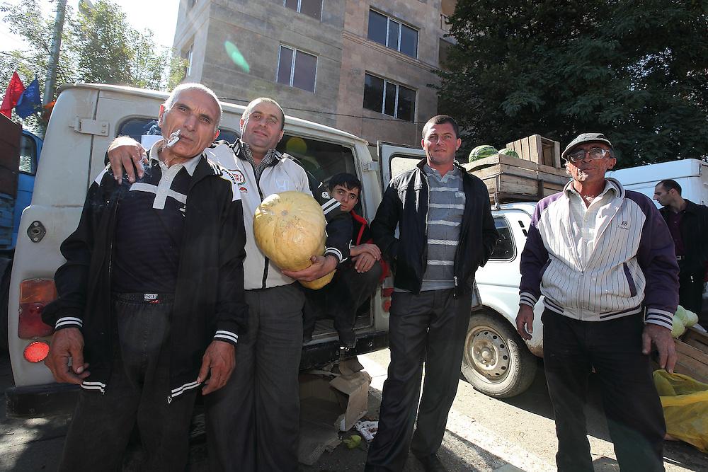 Market traders in Stepanakert, Nagorno-Karabakh