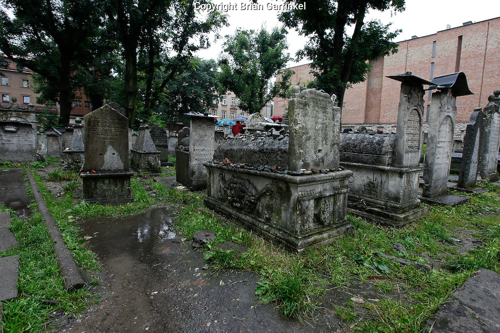 "The ""Old"" Jewish cemetery in Krakow, Poland on Monday July 4th 2011.  (Photo by Brian Garfinkel)"