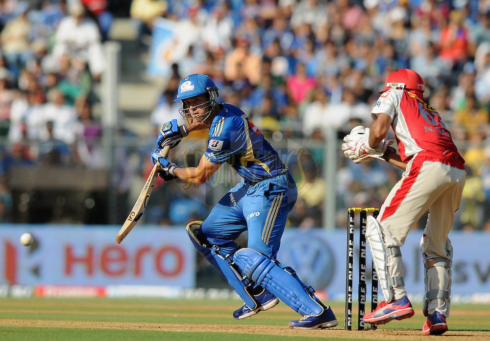 James Franklin of Mumbai Indians bats during match 28 of the Indian Premier League ( IPL) 2012  between The Mumbai Indians and the Kings X1 Punjab held at the Wankhede Stadium in Mumbai on the 22nd April 2012..Photo by Pal Pillai/IPL/SPORTZPICS..
