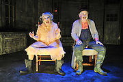 """Raphael Parry and Rhonda Boutte perform during Kitchen Dog Theater's new production of Eugene Ionesco's """"The Chairs"""" on Thursday, February 7, 2013 in Dallas, Texas. (Cooper Neill/The Dallas Morning News)"""