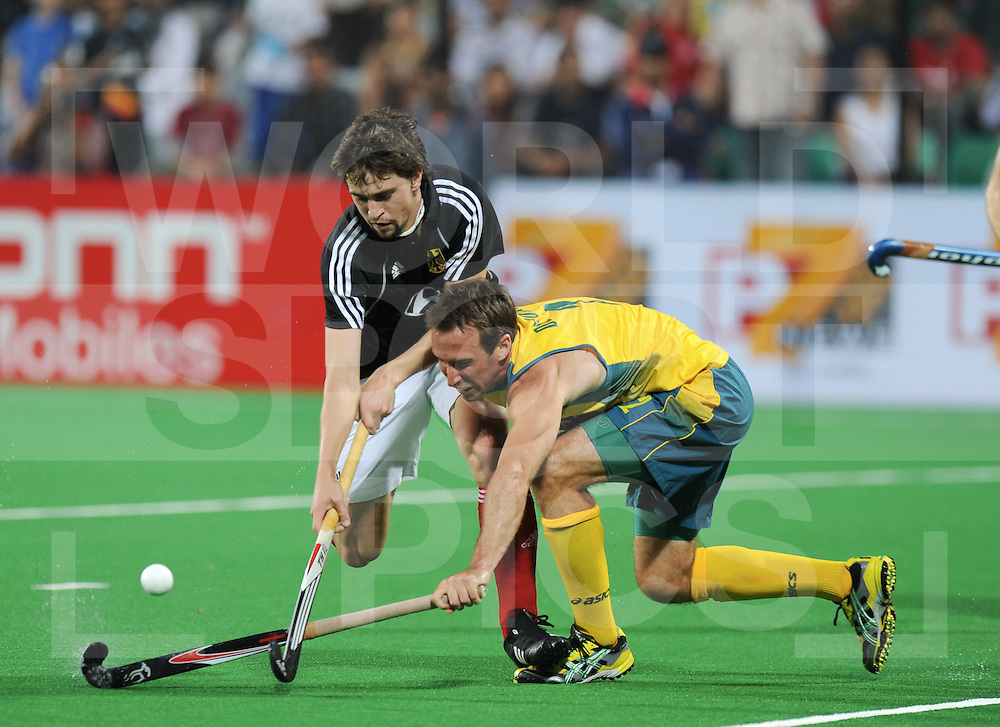 NEW DELHI - World Cup Hockey men.Germany v Australia 1-2.Australian wins the final is World Champion.foto: Tobias Hauke and Liam De Young.FFU Press Agency  COPYRIGHT Frank Uijlenbroek...