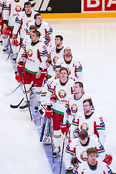 05.05.2013, Globe Arena, Stockholm, SWE, IIHF, Eishockey WM, Slowenien vs Weissrussland, im Bild Vitryssland (Belarus) // during the IIHF Icehockey World Championship Game between Slovenia and Belarus at the Ericsson Globe, Stockholm, Sweden on 2013/05/05. EXPA Pictures © 2013, PhotoCredit: EXPA/ PicAgency Skycam/ Johan Andersson ***** ATTENTION - OUT OF SWE *****