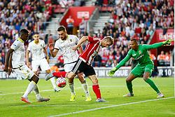 Steven Davis of Southampton back heels the ball - Mandatory by-line: Jason Brown/JMP - Mobile 07966386802 - 31/07/2015 - SPORT - FOOTBALL - Southampton, St Mary's Stadium - Southampton v Vitesse Arnhem - Europa League