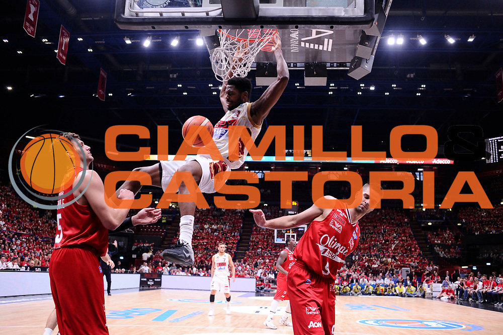 Milano 27.05.2016<br /> Basket Serie A - Playoff Semifinali Gara 5<br /> EA7 Emporio Armani Milano - Reyer Venezia<br /> <br /> Nella foto: Melvin Ejim