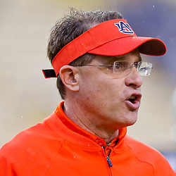 Sep 21, 2013; Baton Rouge, LA, USA;  Auburn Tigers head coach Gus Malzahn before a game against the LSU Tigers at Tiger Stadium. Mandatory Credit: Derick E. Hingle-USA TODAY Sports