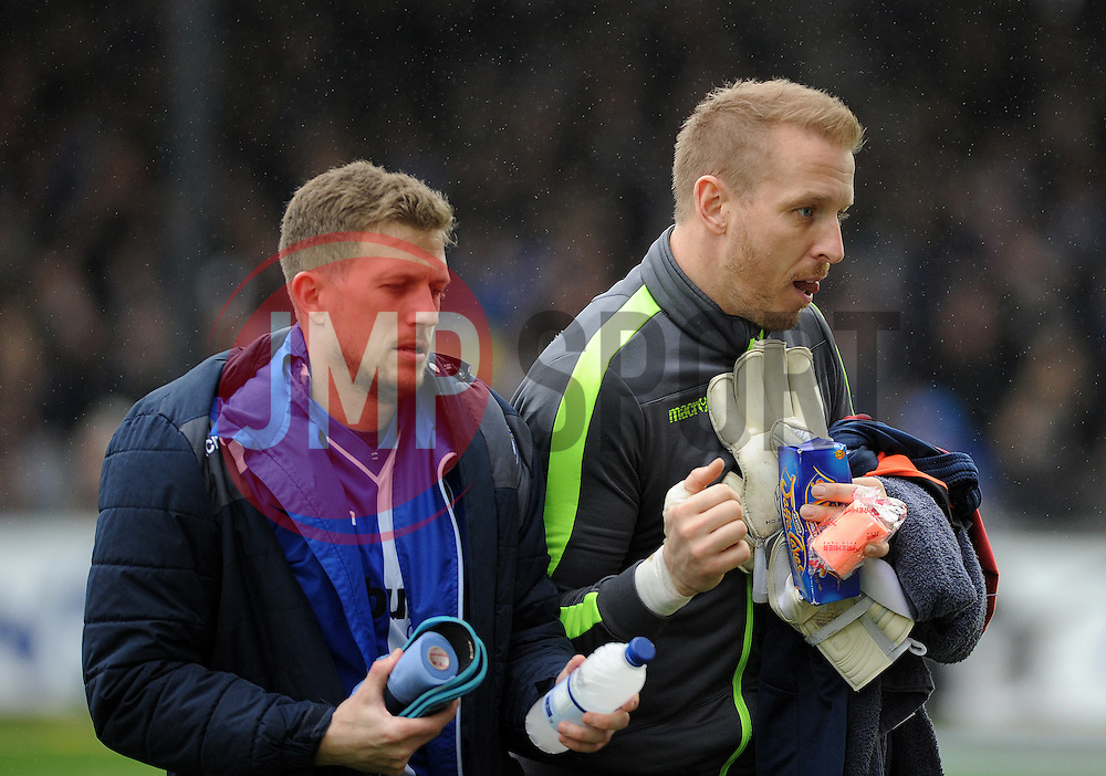 Lee Mansell with Steve Mildenhall of Bristol Rovers - Mandatory by-line: Neil Brookman/JMP - 25/02/2017 - FOOTBALL - Memorial Stadium - Bristol, England - Bristol Rovers v Scunthorpe United - Sky Bet League One