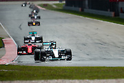 March 27-29, 2015: Malaysian Grand Prix - Lewis Hamilton (GBR), Mercedes leads the start of the Malaysian Grand Prix