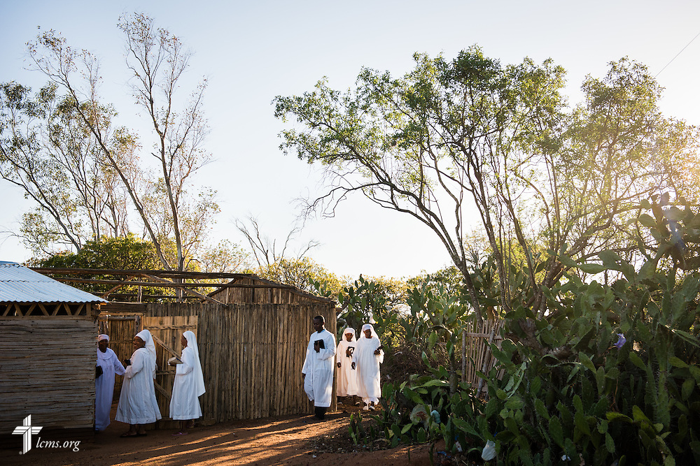 Shepherds retreat to the back of a sanctuary fitted with a tin roof provided by The Lutheran Church–Missouri Synod,  at the Toby Mahatsinjo on Wednesday, Oct. 22, 2014, in Tsiombe, southern Madagascar. LCMS Communications/Erik M. Lunsford