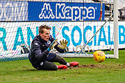 Wigan Christian Walton (1) warming up during the EFL Sky Bet League 1 match between Wigan Athletic and Fleetwood Town at the DW Stadium, Wigan, England on 9 December 2017. Photo by Michał Karpiczenko.