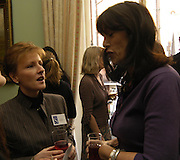 WH Smith chief executive Kate Swann with Gail Rebuck. WH Smith Literary Award. Dartmouth House. 14 January 2004. ONE TIME USE ONLY - DO NOT ARCHIVE  © Copyright Photograph by Dafydd Jones 66 Stockwell Park Rd. London SW9 0DA Tel 020 7733 0108 www.dafjones.com