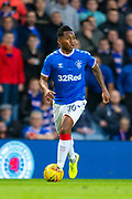 Alfredo Morelos (#20) of Rangers FC during the Europa League Play Off leg 2 of 2 match between Rangers FC and Legia Warsaw at Ibrox Stadium, Glasgow, Scotland on 29 August 2019.