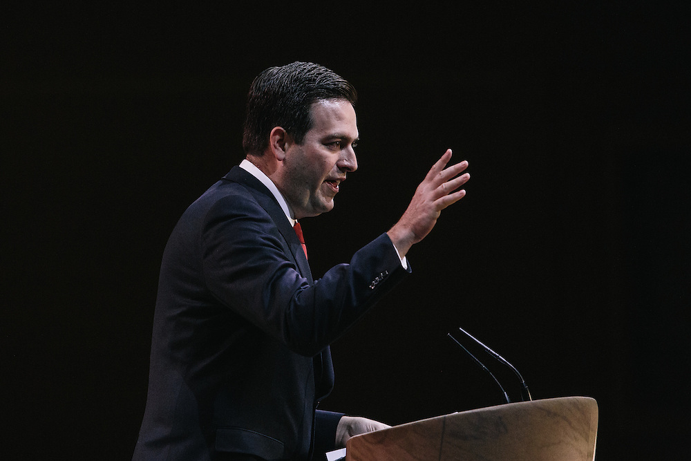 Jose Felix Diaz, Florida House Representative, speaks during the final day of the Conservative Political Action Conference (CPAC) at the Gaylord National Resort & Convention Center in National Harbor, Md.