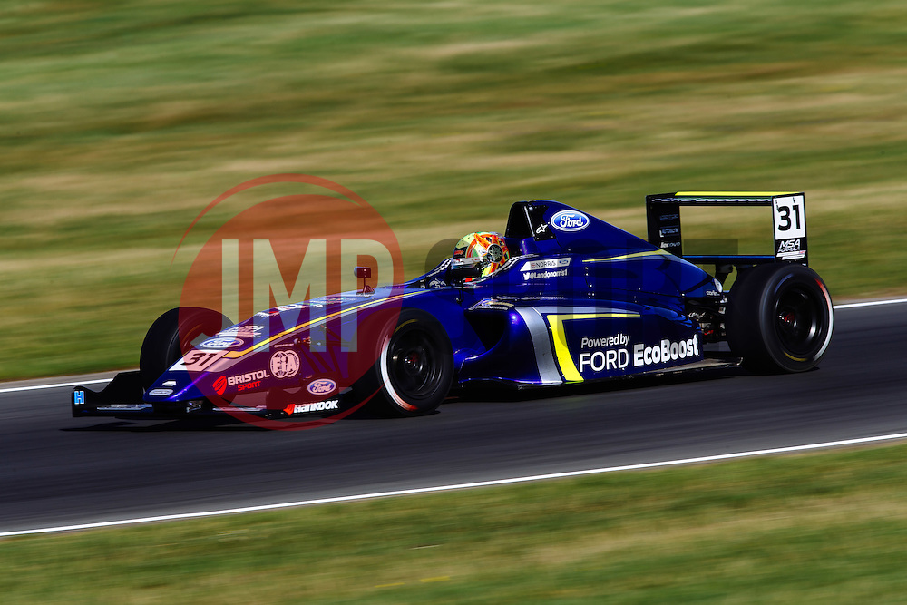 Lando Norris   #31 Carlin   MSA Formula Championship   Race 2 - Mandatory byline: Rogan Thomson/JMP - 07966 386802 - 09/08/2015 - MOTORSPORT - Snetterton Circuit - Norwich, England - BTCC Meeting Day 2.