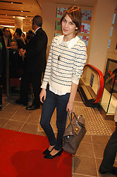 Presenter ALEXA CHUNG at a party to celebrate the opening of the new Uniqlo store at 331 Oxford Street, London W1 on 6th November 2007.<br />