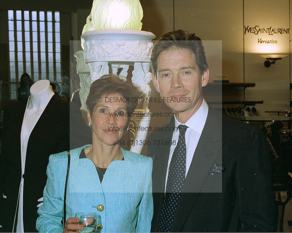 MR & MRS ANTHONY ANDREWS, he is the actor, at a party in London on 7th May 1997.LYD 8