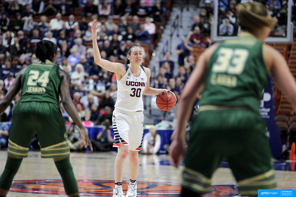 Breanna Stewart, UConn, in action during the UConn Huskies Vs USF Bulls 2016 American Athletic Conference Championships Final. Mohegan Sun Arena, Uncasville, Connecticut, USA. 7th March 2016. Photo Tim Clayton