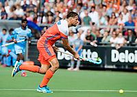WAALWIJK -  RABO SUPER SERIE . Bjorn Kellerman (Ned)    tijdens  de hockeyinterland heren  Nederland-India (3-4),  ter voorbereiding van het EK,  dat vrijdag 18/8 begint.  COPYRIGHT KOEN SUYK