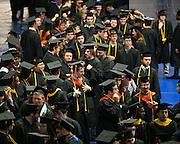 Graduates line up before the procession at RIT's Convocation Ceremony in Rochester on Friday, May 22, 2015.